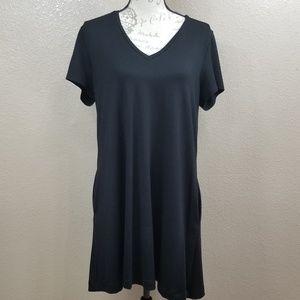 Karen Kane Black T-Shirt Dress Size XL